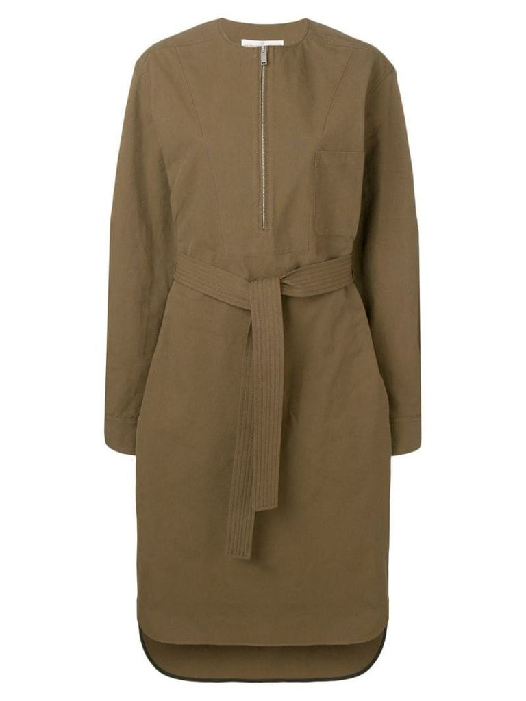 Golden Goose belted shirt dress - Green