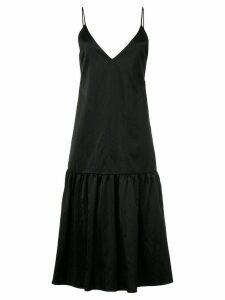 Le Ciel Bleu v-neck flared dress - Black