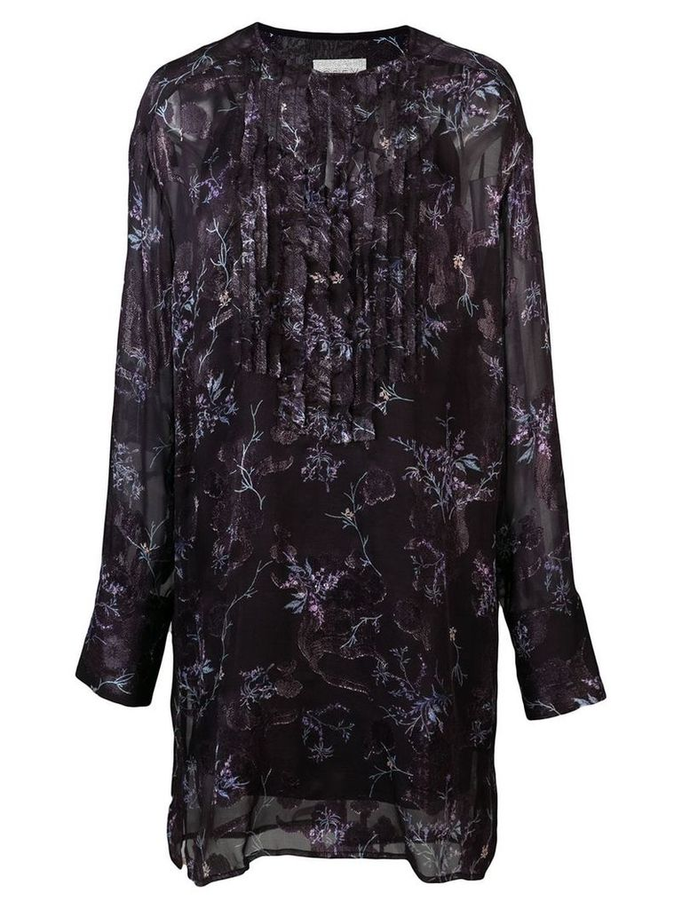 Jason Wu floral panelled dress - Black