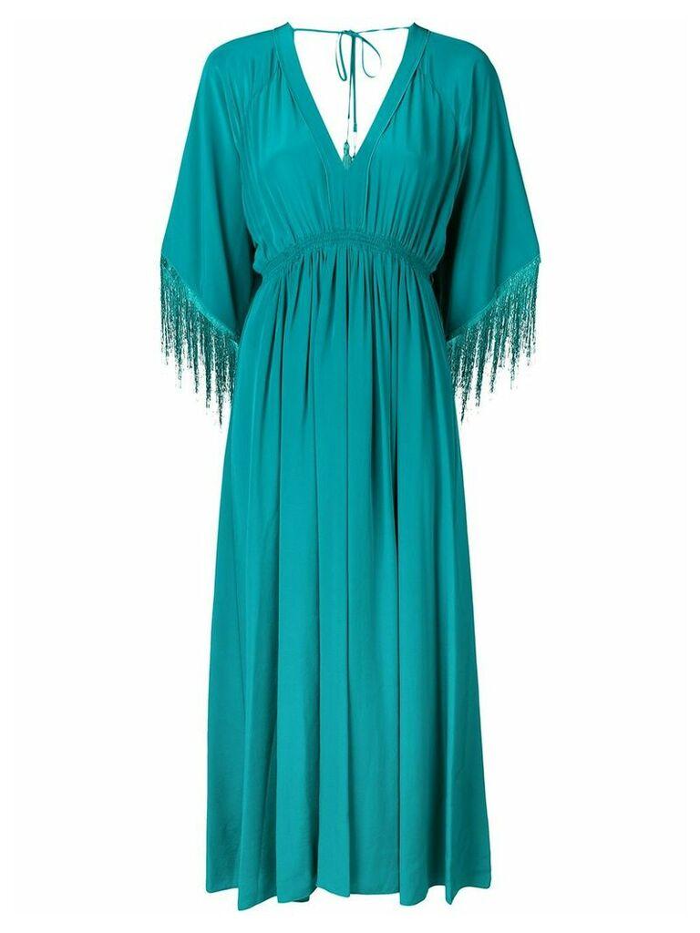 Forte Forte fringed sleeves midi dress - Green
