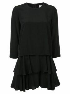 Jason Wu layered ruffle mini dress - Black