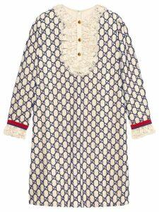 Gucci Short GG macramé dress - White