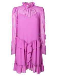 See By Chloé ruffle trimmed dress - Purple