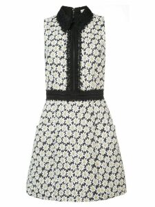 Alice+Olivia Ellis embroidered floral dress - White