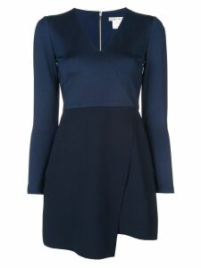 Alice+Olivia Evette asymmetric hem dress - Blue