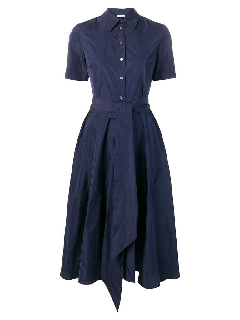 P.A.R.O.S.H. Patricy flared shirt dress - Blue