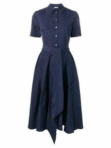 P.A.R.O.S.H. Patricy flared shirt dress - Blue