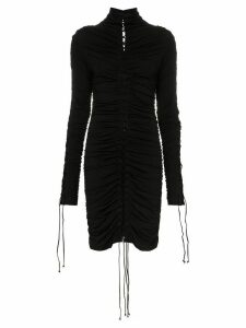 Unravel Project lace-up mini dress - Black