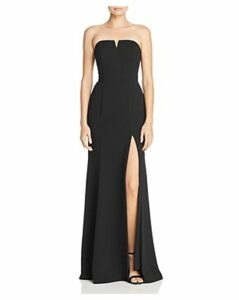 Aqua Strapless Crepe Gown - 100% Exclusive