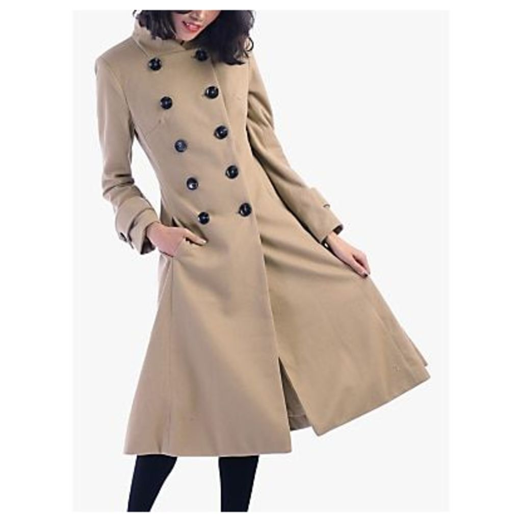 Jolie Moi Double Breasted Flared Coat
