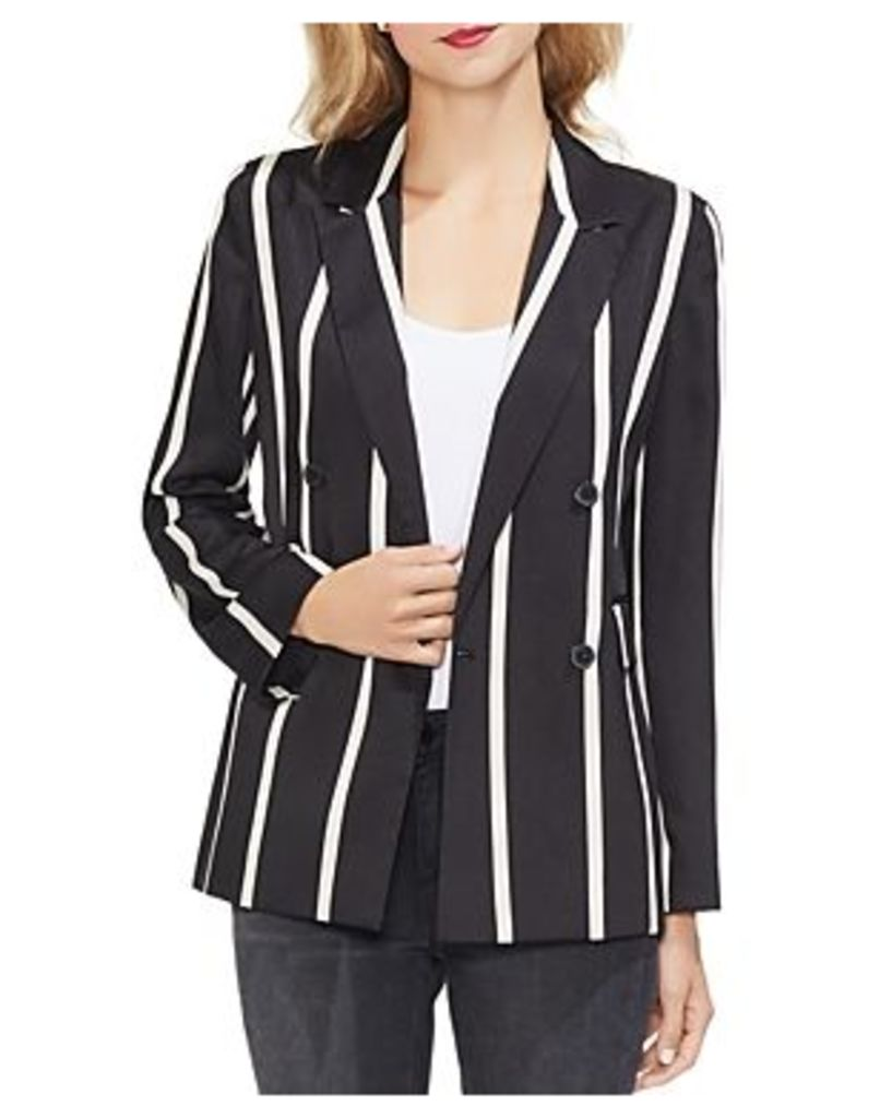 Vince Camuto Striped Double-Breasted Blazer