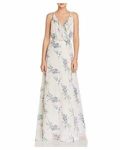 Wayf Emma Floral Ruffle Wrap Dress