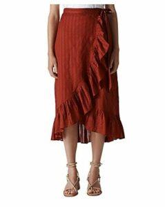 Whistles Ruffled Wrap Skirt