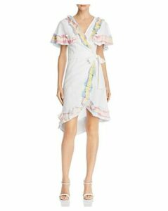 A Mere Co. Rainbow Ruffle Wrap Dress