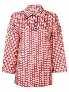 Valentino Optical V printed blouse - Red