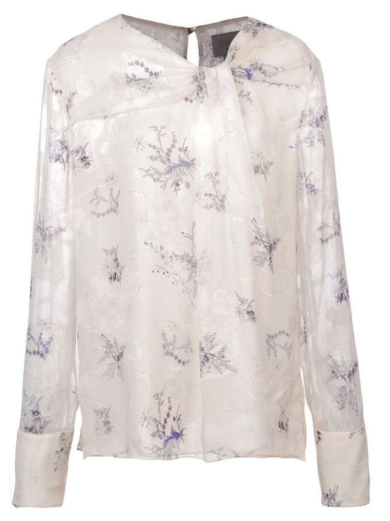 Jason Wu floral knot blouse - White
