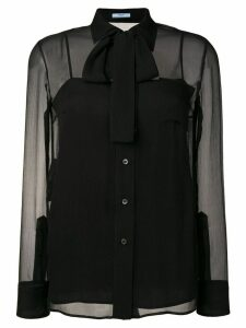 Prada bow tie shirt - Black