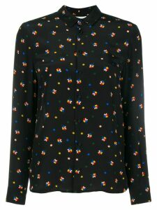 Chinti & Parker floral fitted long-sleeve shirt - Black