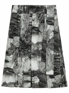 Burberry Dreamscape Print Pleated Silk Tie-waist Skirt - Black
