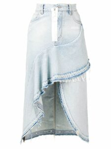 Off-White asymmetric denim skirt - Blue