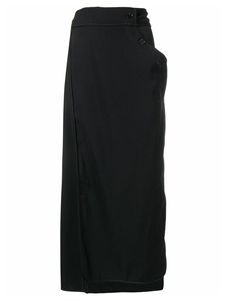 Lemaire twisted skirt - Black