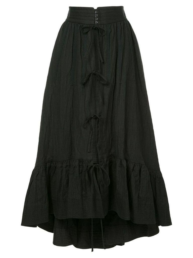 Irene wrinkled petty court skirt - Black
