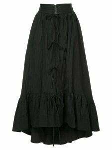 Irene wrinkled petty court skirt - Black