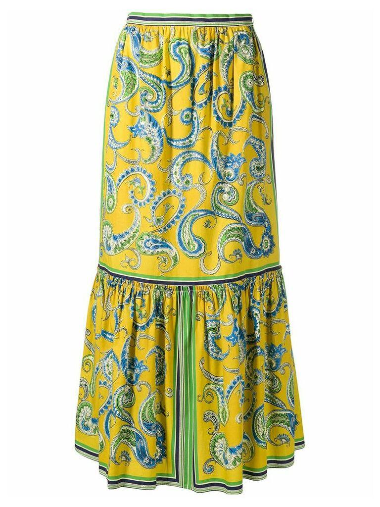 Philosophy Di Lorenzo Serafini paisley skirt - Yellow