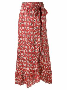 Isabel Marant Étoile Alda wrap skirt - Red