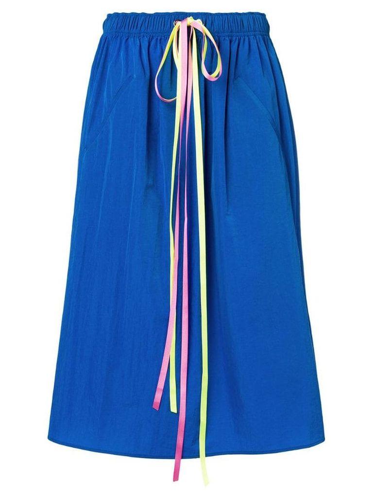 Mira Mikati daisy snap midi skirt - Blue