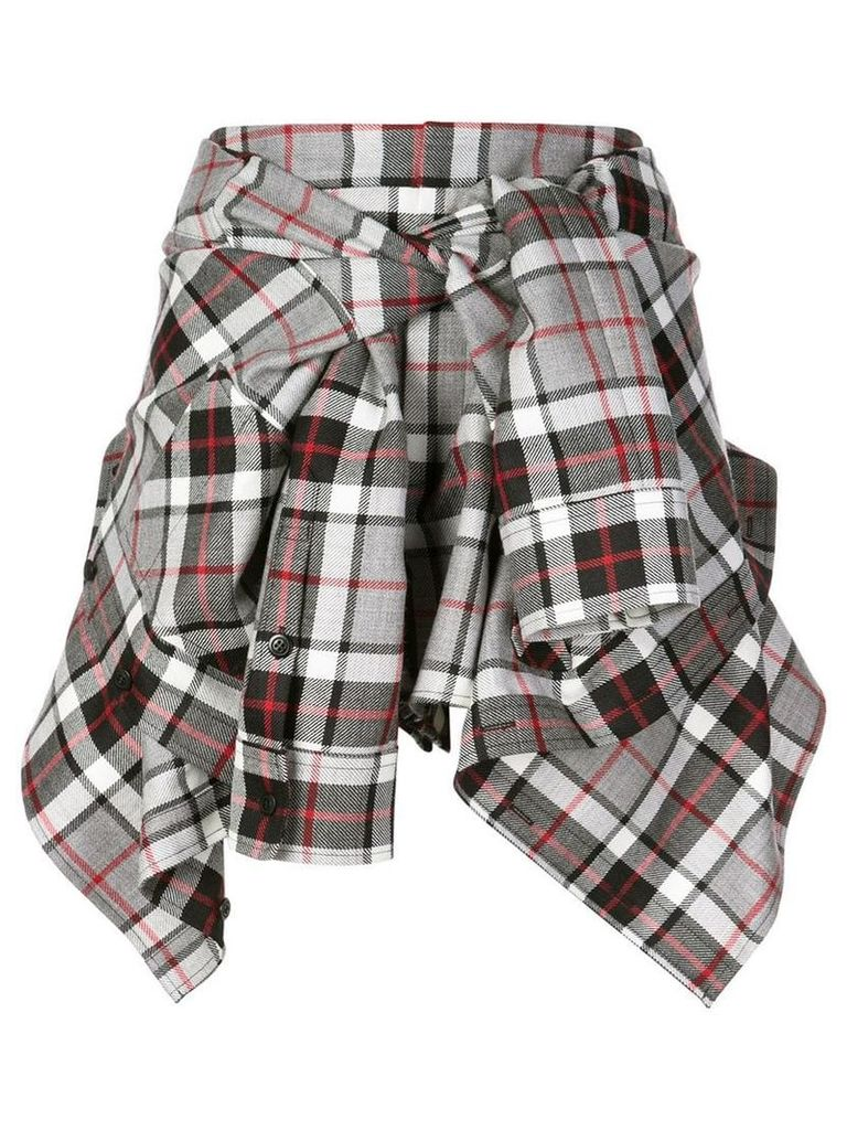 Alexander Wang wrapped around shirt skirt - Grey