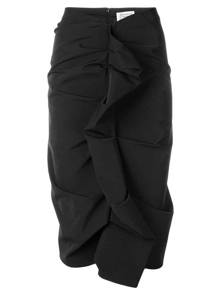 Maison Margiela ruffled pencil skirt - Black
