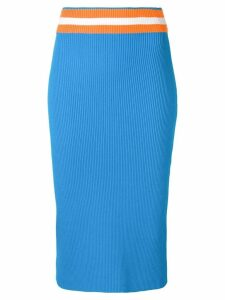 Calvin Klein midi pencil skirt - Blue