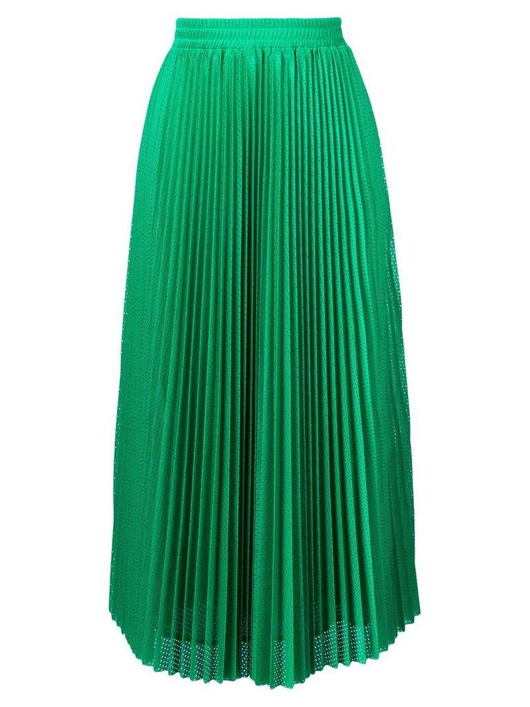 Red Valentino accordion pleat skirt - Green