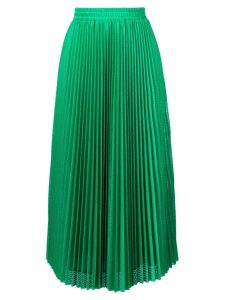 Red Valentino accordion pleat skirt - Green