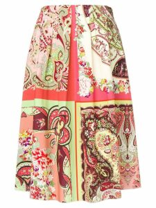 Etro paisley print midi skirt - Red