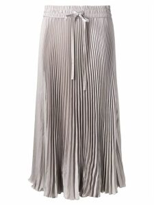 Red Valentino Sunray pleated skirt - Grey