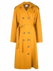 Khaite double breasted trench coat - Brown
