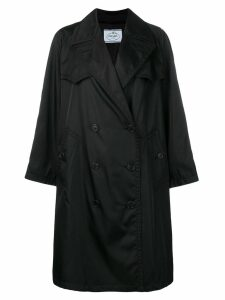Prada oversized double breasted trench coat - Black