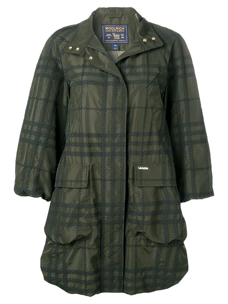 Woolrich plaid water-resistant coat - Green