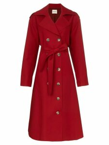 Khaite Lauren cotton trench coat - Red