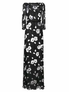Carolina Herrera floral long dress - Black