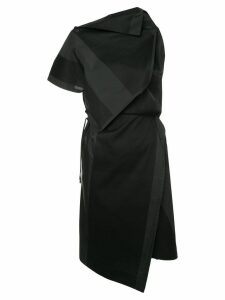 132 5. Issey Miyake printed asymmetric dress - Black