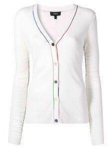Theory slim-fit cardigan - White