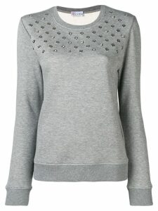 Red Valentino eyelet detail sweater - Grey