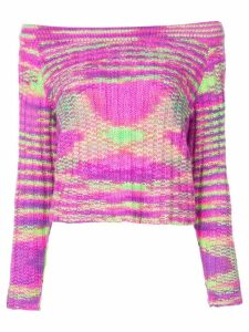 The Elder Statesman off-the-shoulder cashmere sweater - Pink