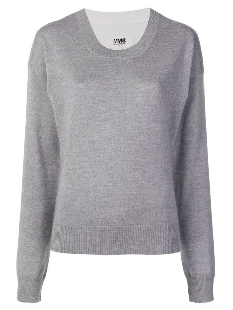 Mm6 Maison Margiela round neck sweater - Grey