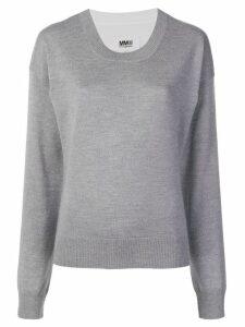 Mm6 Maison Margiela round neck sweater - Grey