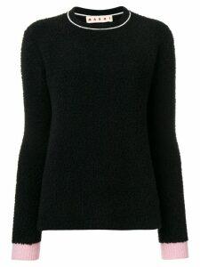 Marni contrast cuff jumper - Black
