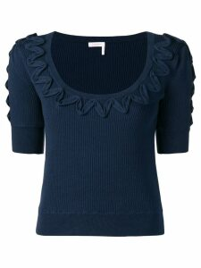 See By Chloé appliqué detail knitted top - Blue